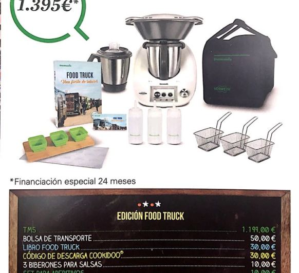 PROMOCIÓN FOOD TRUCK Thermomix® TM5 0%DE INTERÉS Y DOBLE VASO
