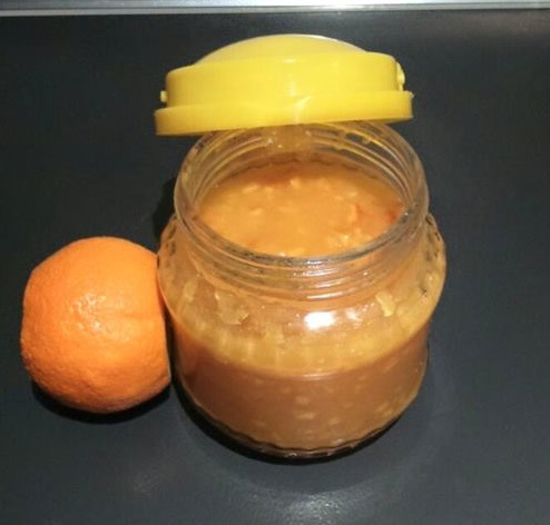 Mermelada de naranja hecha por mi mamá
