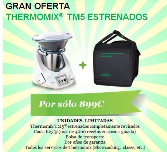GRAN OPORTUNIDAD Thermomix® SEMINUEVAS O KM0 POR 899€