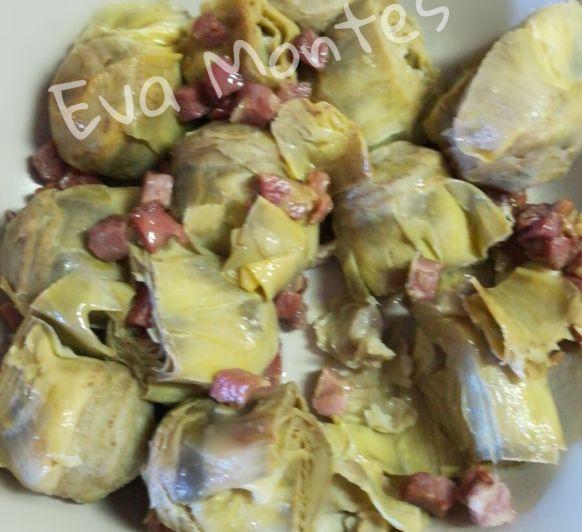 Alcachofas con jamón en Thermomix® ©