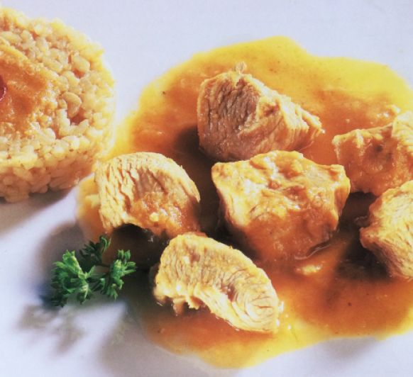 POLLO AL CURRY CON Thermomix®